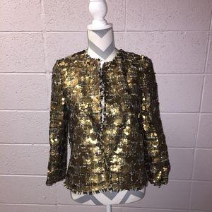 Zara Gold Sequin Blazer/Coat